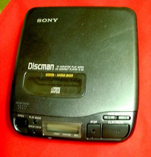 1992 JAPAN SONY D 34 COMPACT DISCMAN CD PLAYER TESTED GOOD WORKS