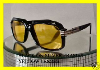 DMC GLASSES CAZAL BLACK ON GOLD multi color lenses hip hop 607 JAY Z