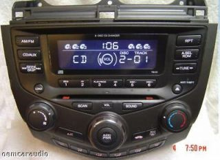 03 04 05 06 07 HONDA Accord Radio Stereo 6 Disc Changer CD Player 7BX0
