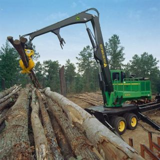 Forestry equipment in action CD VIDEO. logging trucks loaders bunchers