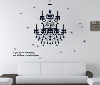 Elegant Chandelier Removable DIY Wallpaper Covering Mural Art Sticker