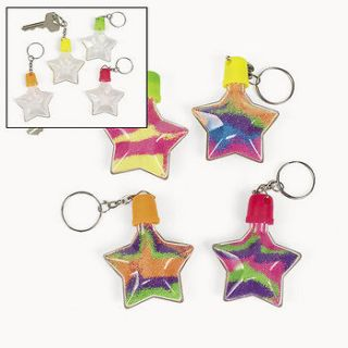Star Sand Art Bottle Key Chains / LOT OF 12 BOTTLES / ARTS AND CRAFTS