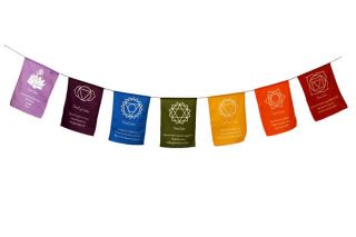 Chakra Buddhist Hindu Flag Tibet Tibetan Prayer Flag Bunting   Made in