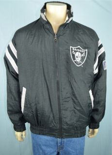 Vtg Pro Player NFL Experience Oakland Raiders Reversible Jacket Mens
