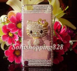 New Pink 3D Hello Kitty Bling Crystal Case Cover for Apple iPod Touch