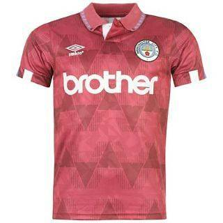 Mens Retro Jersey   Manchester City FC 1990 Away Shirt   Size S M L XL