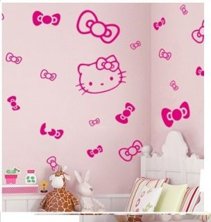 Butterfly Hello Kitty Wall Stickers,PVC Cartoon Children/Living