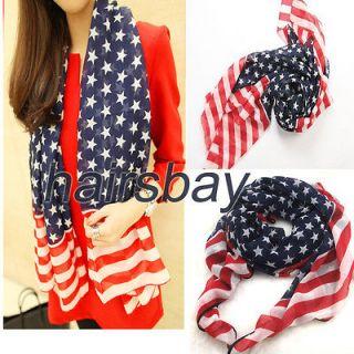 NEW Super Silky, WOMAN&GIRL,Fashion Scarf ,American flag design