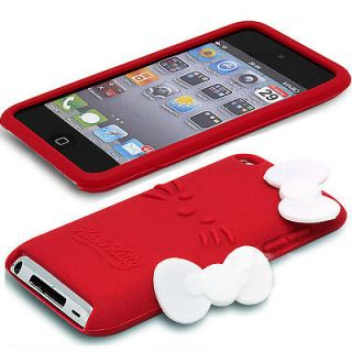 Hello Kitty Cute Back Cover Red Soft Case for iPod itouch 4 Gen 4G 4TH