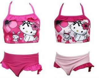 NEW Official Hello Kitty Girls Bikini/Swimmin​g Costume aged 4 12