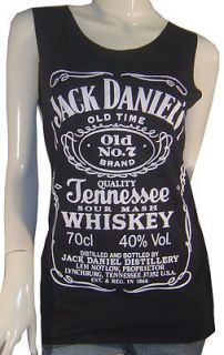 Jack Daniels Whiskey Tennessee Printed T shirts Tank Top Vest Sz S