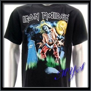 Sz XXL 2XL IRON MAIDEN T shirt Heavy Metal Rock Rider Skull Tour