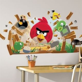Birds Peel & Stick Giant Wall Decals 32 Stickers Cling Licensed Pigs