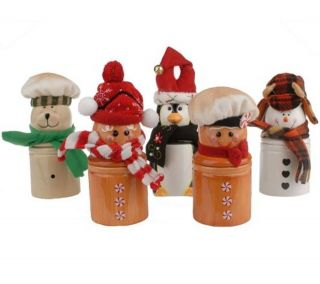 One Christmas Holiday Ceramic Jar Scented Candle by Lori Greiner