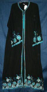 Abaya Dubai Hijab Bedouin Sheela Black Abayas Kurti Tunic Dupatta