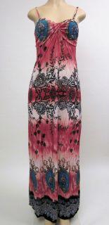 Sexy Full Length Summer Sun Dress Tye Dye Paisley Womens Maxi Dresses