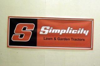 Vintage Simplicity Lawn Farm Garden Tractor Banner
