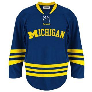 Michigan Wolverines Reebok Navy Premier Hockey Jersey