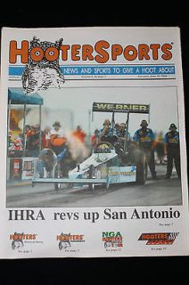 Hooters IHRA drag racing funny car Newspaper Magazine Miami bikini