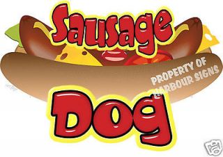 Sausage Dog Decal 18 Hot Dog Cart Concession Food Truck Van Stand