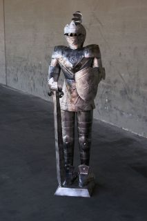 Foot SILVER Suit of Armor Knight   Long Sword Shield