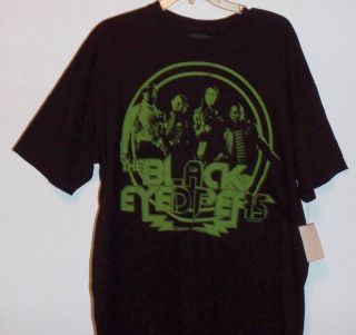Black Eyed Peas Size Large Tee Black Short Sleeve T Shirt Mens Tee NWT