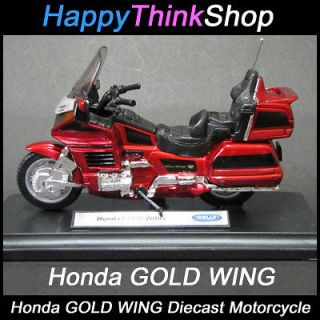 Honda GOLD WING Diecast Mini Motorcycle Bike + Bonus Ginseng Tea