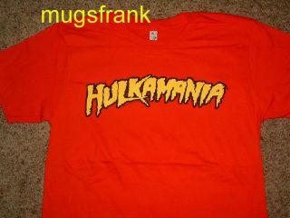 Hulk Hogan Hulkamania Wrestling Red T Shirt