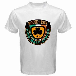 New House Of Pain Logo Retro Hip Hop Rap Music Mens White T Shirt Size