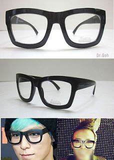 Super Oversized Black Thick Bold Full Rim Eye Glasses Frame T.O.P GD