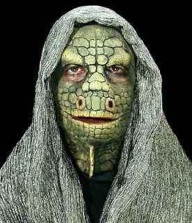 Lizard Full Face Foam Latex Prosthetic Mask Professional Grade