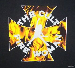 THE CULT Vintage Concert SHIRT 80s TOUR T RARE ORIGINAL 1989 Sonic