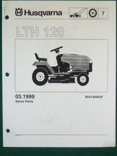 HUSQVARNA LTH 120 LAWN TRACTOR MOWER PARTS LIST SERVICE MANUAL
