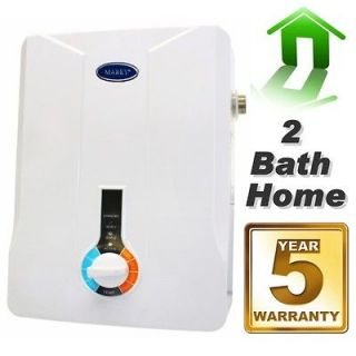 Marey Tankless Hot Water Heater Electric 3 GPM 2 Bath Small Home