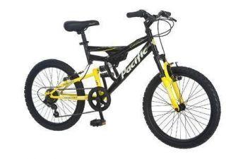 boys kids off road 20 inch full suspension mt mtb mountain bike black