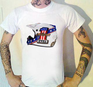 Evel Knievel Helmet USA T Shirt