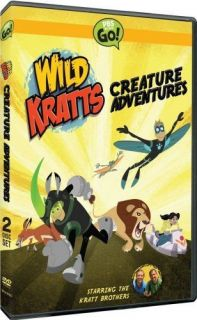 WILD KRATTS CREATURE ADVENTURES New Sealed 2 DVD PBS