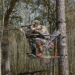 Hunting Deer Blind Wrap For 2 Man Ladder Tree Stand Camo