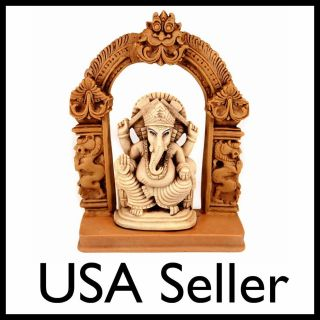 STATUE Seated Ganesh Hindu Elephant God NEW Resin Figurine India