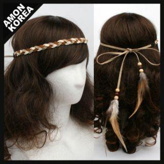Indian feather HEADBAND Hairband Hairwrap AM9 1