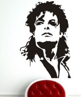 MICHAEL JACKSON WALL ART STICKER JACKO MUSIC KING OF POP DECOR DECAL