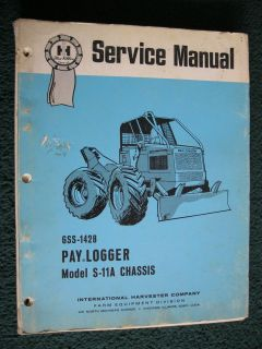 IH INTERNATIONAL S 11A PAY LOGGER LOG SKIDDER, GRAPPLE SKIDDER SERVICE