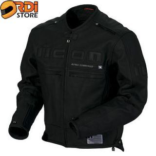 ~ Icon Mens Motorhead Insulated Armored Leather Motorcycle Jacket