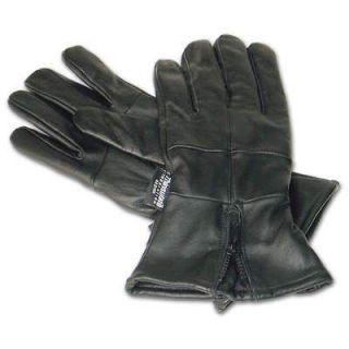 Mens Leather Motorcycle Biker Riding Winter Warm Gloves Gaunlet
