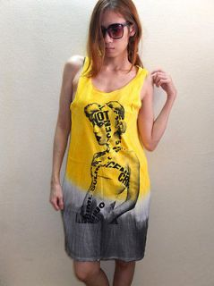Lady Gaga Paparazzi Electronic Pop Rock Long Dress T Shirt L