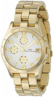MARC BY MARC JACOBS GOLD STEEL HENRY CHRONOGRAPH LADIES WATCH MBM3039