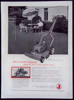 Vintage 1957 Jacobsen Turbo Cut Lawn Mower Magazine Ad