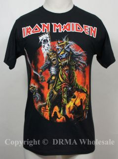 Authentic IRON MAIDEN Band Samurai Eddie T Shirt S M L XL XXL Official