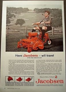 1959 Jacobsen Putting Greens riding lawn mower Estate 24 vintage ad