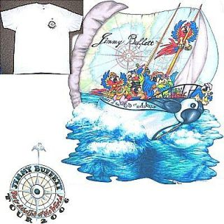 JIMMY BUFFETT 2006 TOUR/PARROT SHIP WHITE T SHIRT S